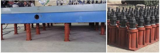 地锚器安装落地镗床工作台